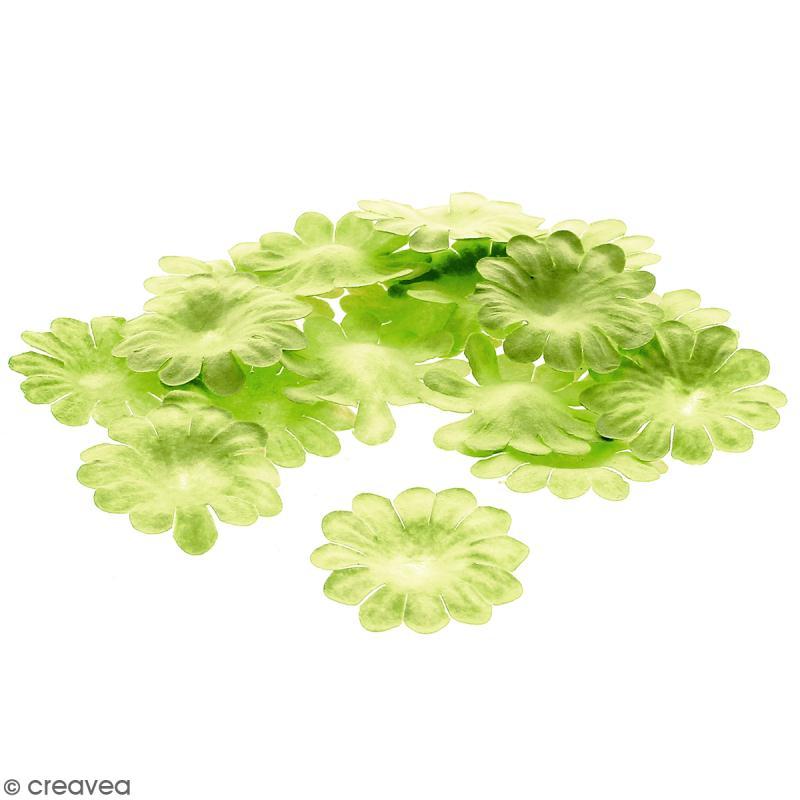 Fleurs en papier - Marguerites Vertes  - 2,5 cm - 25 pcs - Photo n°1