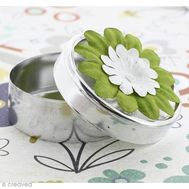 Fleurs en papier - Marguerites Vertes  - 2,5 cm - 50 pcs - Photo n°3