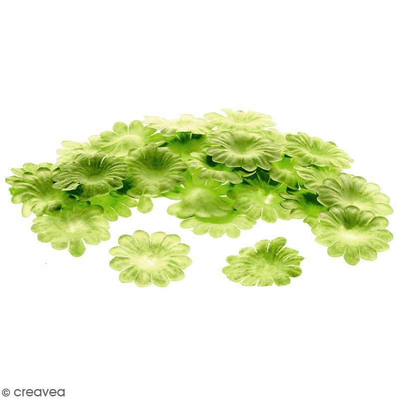 Fleurs en papier - Marguerites Vertes  - 2,5 cm - 50 pcs - Photo n°1