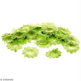Fleurs en papier - Marguerites Vertes  - 2,5 cm - 50 pcs
