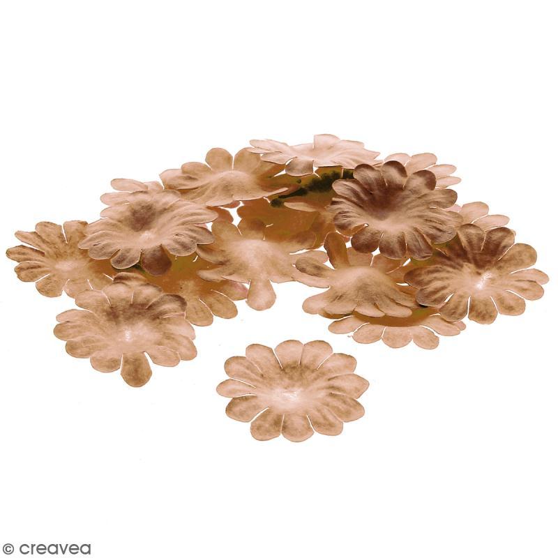 Fleurs en papier - Marguerites Marron - 2,5 cm - 25 pcs - Photo n°1