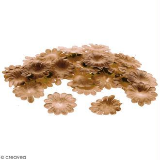 Fleurs en papier - Marguerites Marron - 2,5 cm - 50 pcs