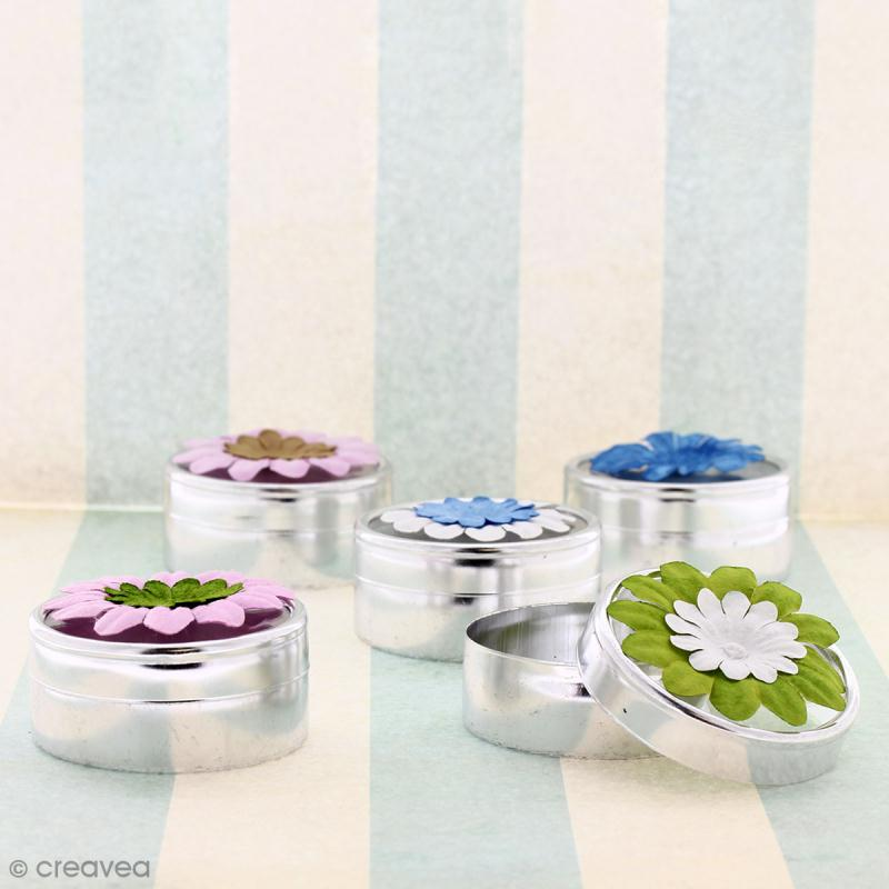 Fleurs en papier - Marguerites Bleues - 5 cm - 50 pcs - Photo n°2