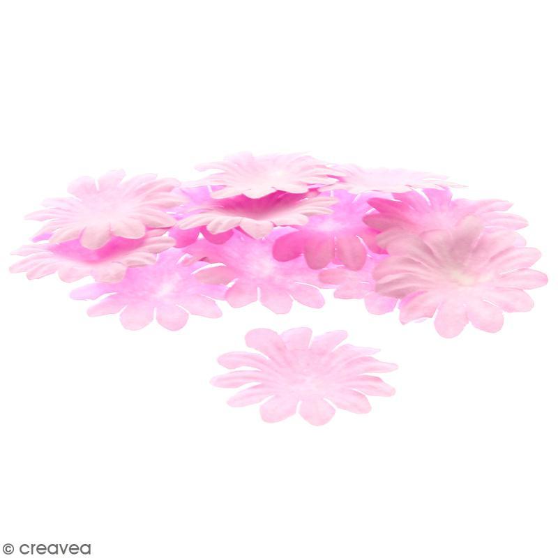 Fleurs en papier - Marguerites Roses - 5 cm - 25 pcs - Photo n°1