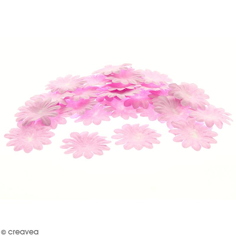 Fleurs en papier - Marguerites Roses - 5 cm - 50 pcs - Photo n°1