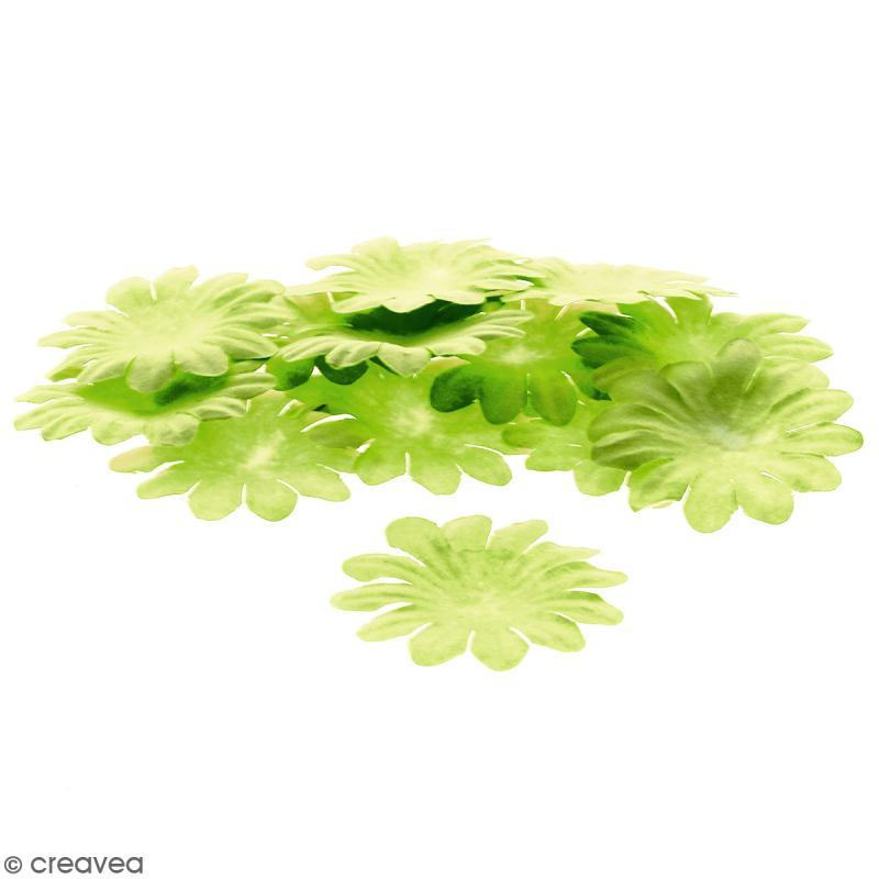 Fleurs en papier - Marguerites Vertes  - 5 cm - 25 pcs - Photo n°1