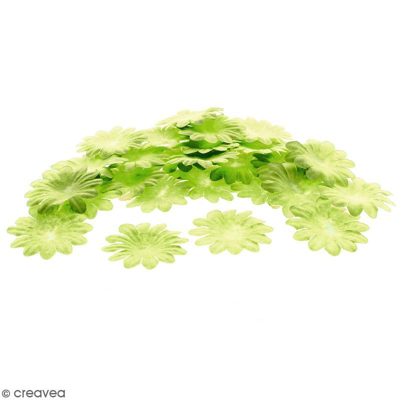 Fleurs en papier - Marguerites Vertes  - 5 cm - 50 pcs - Photo n°1