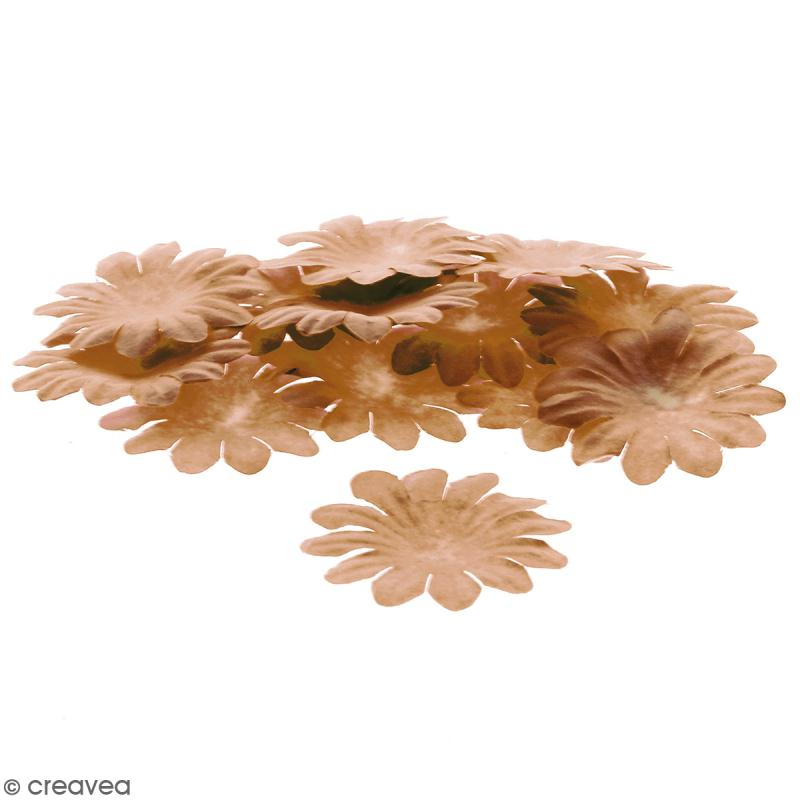 Fleurs en papier - Marguerites Marron - 5 cm - 25 pcs - Photo n°1