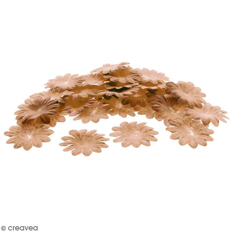 Fleurs en papier - Marguerites Marron - 5 cm - 50 pcs - Photo n°1