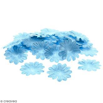 Fleurs en papier - Marguerites Bleues - 4 cm - 50 pcs