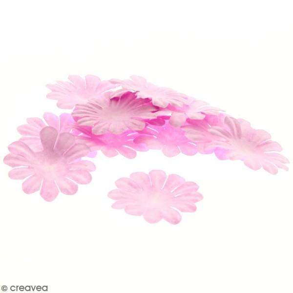 Fleurs en papier - Marguerites Roses - 4 cm - 25 pcs - Photo n°1
