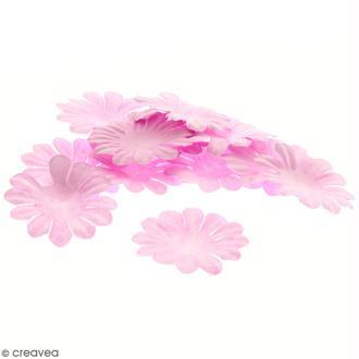 Fleurs en papier - Marguerites Roses - 4 cm - 25 pcs