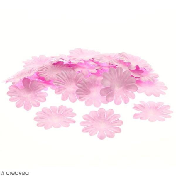 Fleurs en papier - Marguerites Roses - 4 cm - 50 pcs - Photo n°1