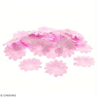Fleurs en papier - Marguerites Roses - 4 cm - 50 pcs