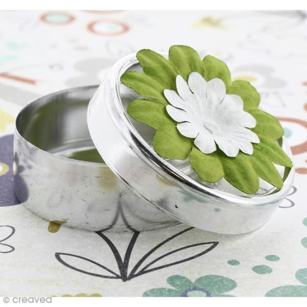 Fleurs en papier - Marguerites Vertes  - 4 cm - 25 pcs - Photo n°2
