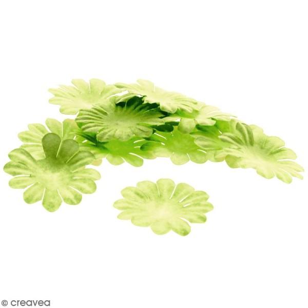 Fleurs en papier - Marguerites Vertes  - 4 cm - 25 pcs - Photo n°1