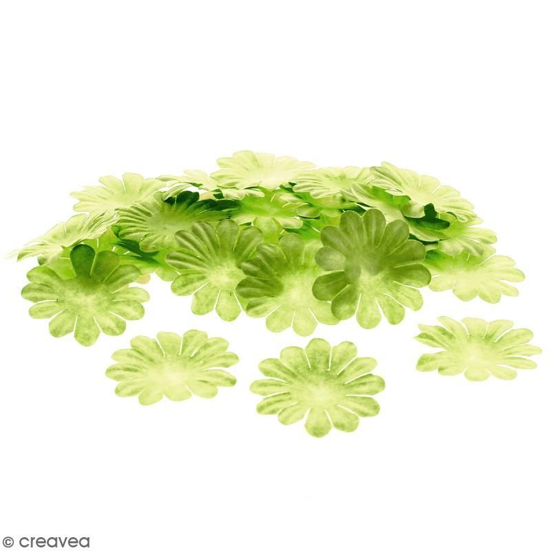 Fleurs en papier - Marguerites Vertes  - 4 cm - 50 pcs - Photo n°1
