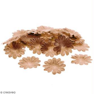 Fleurs en papier - Marguerites Marron - 4 cm - 50 pcs