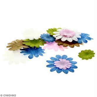 Fleurs en papier - Marguerites Multicolore - De 2,5 à 4 cm - 50 pcs