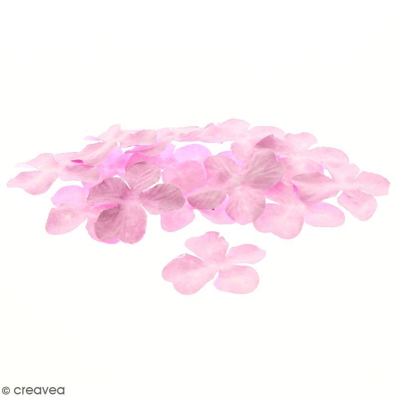 Fleurs en papier - Hortensia Roses - 3,2 cm - 25 pcs - Photo n°1