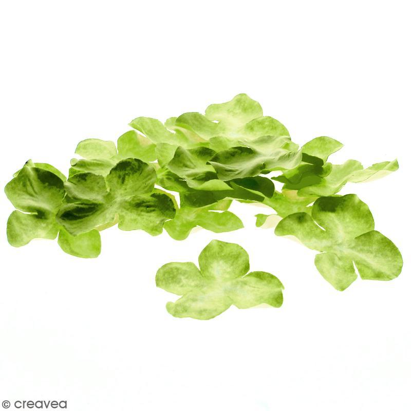 Fleurs en papier - Hortensia Vertes  - 5 cm - 25 pcs - Photo n°1