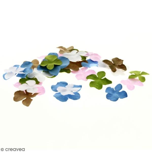 Fleurs en papier - Hortensia Multicolore - De 2,5 à 4,5 cm - 75 pcs - Photo n°1
