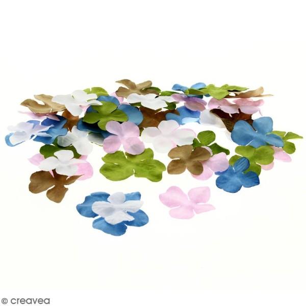 Fleurs en papier - Hortensia Multicolore - De 2,5 à 4,5 cm - 100 pcs - Photo n°1
