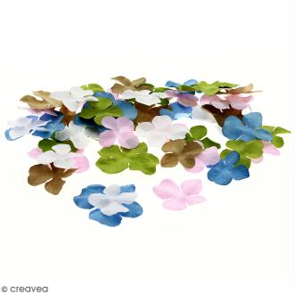 Fleurs en papier - Hortensia Multicolore - De 2,5 à 4,5 cm - 100 pcs