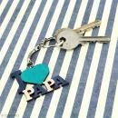 Porte clé J'aime Papa en bois à décorer - 3,7 x 4,3 cm - 50 pcs - Photo n°2
