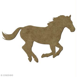 Cheval en bois - 15 x 9 cm