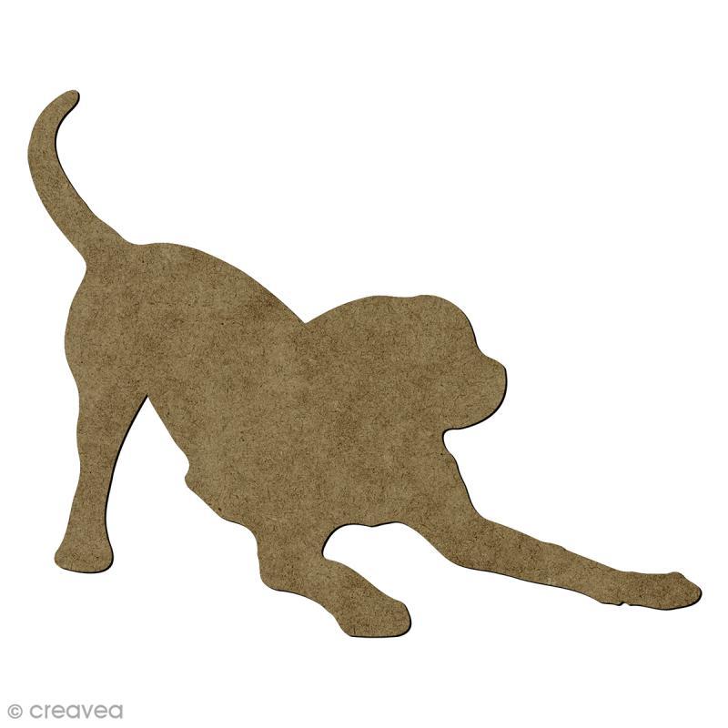 chien joueur en bois 18 5 x 10 5 cm chien d corer. Black Bedroom Furniture Sets. Home Design Ideas