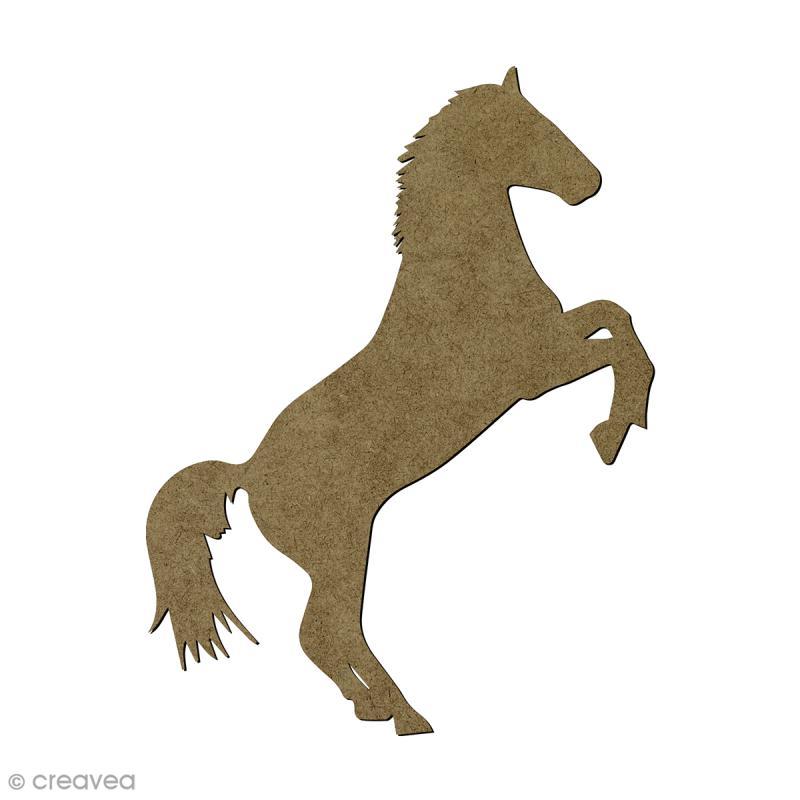 Cheval cabré en bois - 15,5 x 8,8 cm - Photo n°1