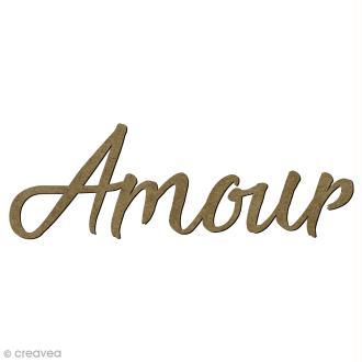 Mot Amour en bois - 6,8 x 2 cm