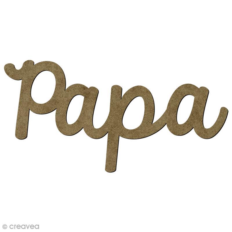 Mot Papa en bois - 4,5 x 1,8 cm - Photo n°1