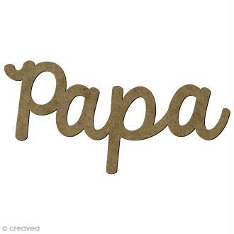 Mot Papa en bois - 4,5 x 1,8 cm