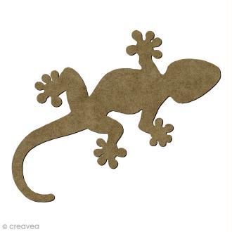 Lézard Gecko en bois - 6,5 x 3,3 cm