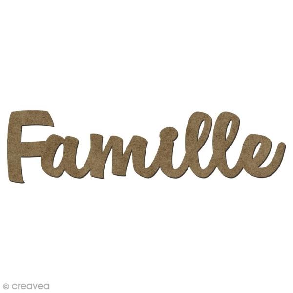 Forme en bois mots - Famille - 5,8 x 1,5 cm - Photo n°1