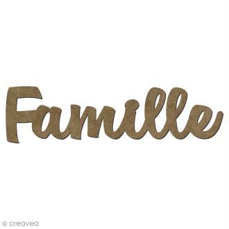 Forme en bois mots - Famille - 5,8 x 1,5 cm