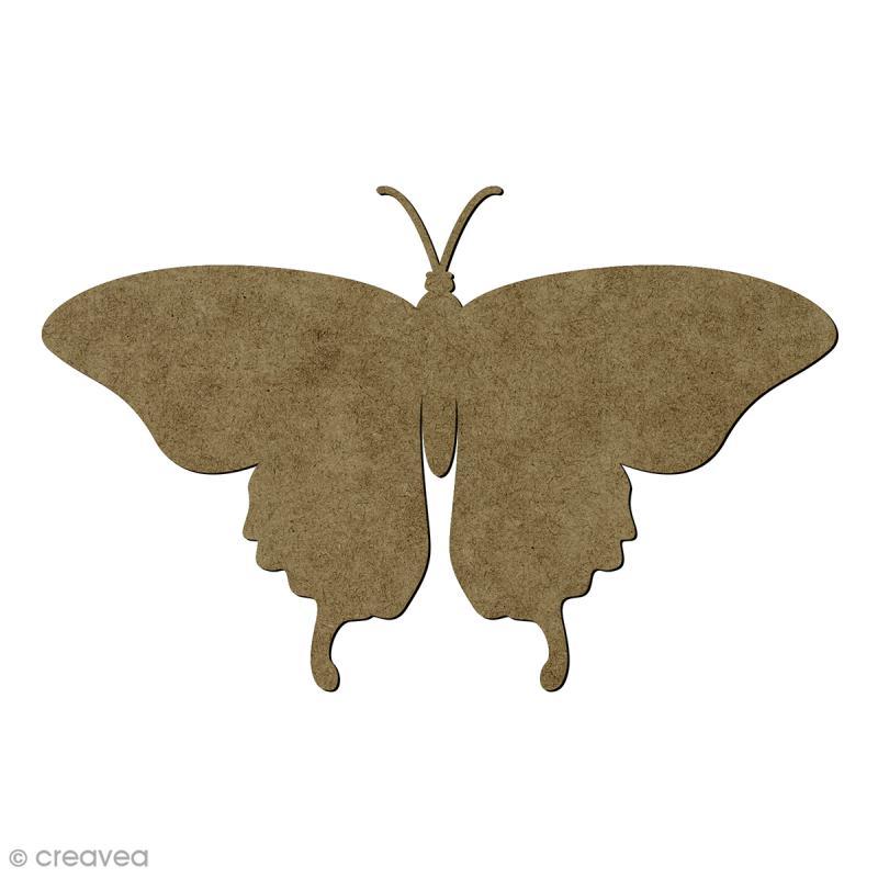 Papillon en bois - 15 x 9,5 cm - Photo n°1