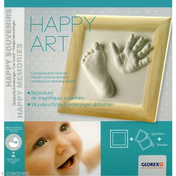 Kit Happy Art Empreintes Bébé Kit Moulage Creavea