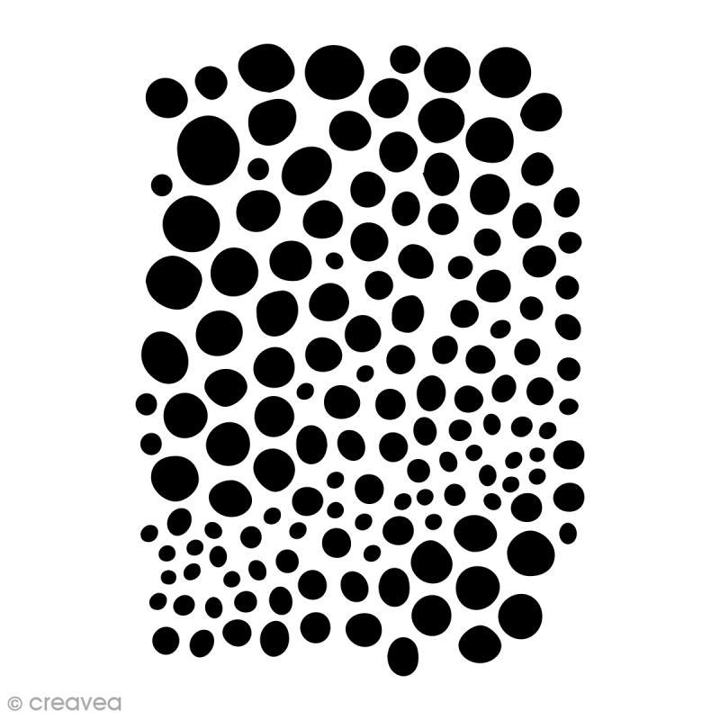 Pochoir multiusage - Pois - 29,7 x 21 cm (A4) - Photo n°1
