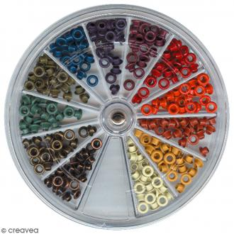 Oeillets 2,5 mm - Assortiment Automne - 300 pcs