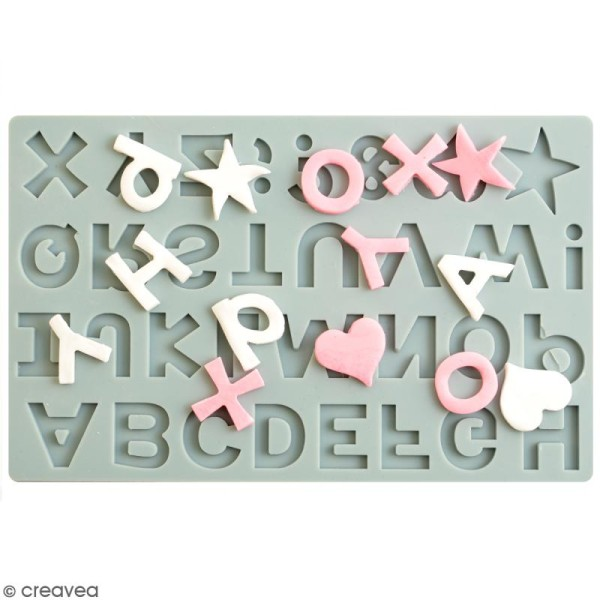 Moule silicone Vaessen Creative - Alphabet - Photo n°1
