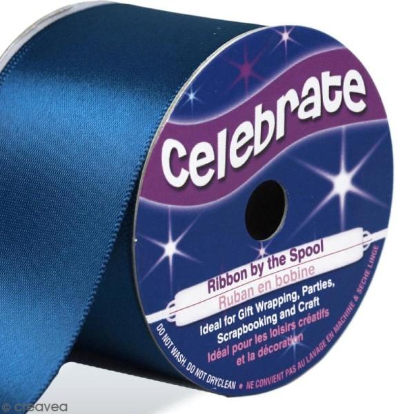 Ruban de satin - Bleu cobalt - 38 mm x 4 m - Photo n°1