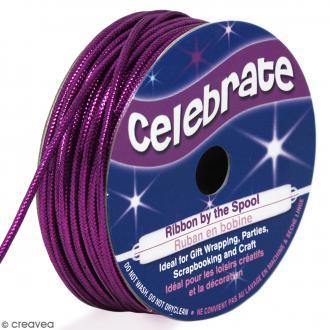 Cordon métallisé Celebrate - Violet - 1,6 mm x 8 m