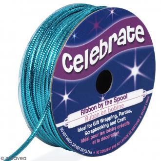 Cordon métallisé Celebrate - Bleu turquoise - 1,6 mm x 8 m