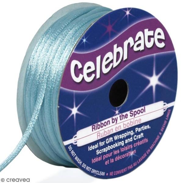 Cordon queue de rat Celebrate - Bleu ciel - 2 mm x 10 m - Photo n°1