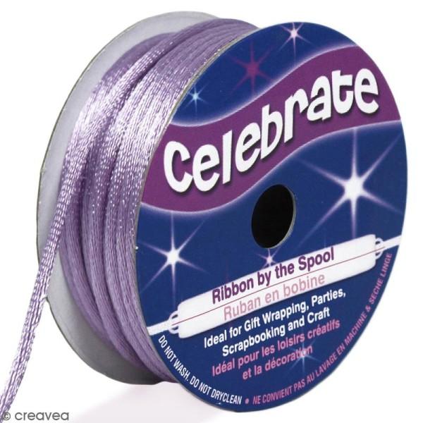 Cordon queue de rat Celebrate - Violet clair - 2 mm x 10 m - Photo n°1