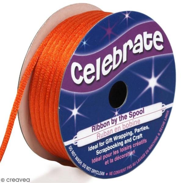 Cordon queue de rat Celebrate - Orange - 2 mm x 10 m - Photo n°1