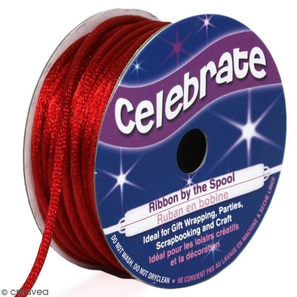 Cordon queue de rat Celebrate - Rouge - 2 mm x 10 m - Photo n°1